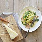 Pasta med mørbrad, citron og rucola