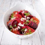 Rødbedesalat med blodappelsin og peberrod